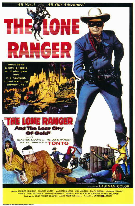 The Lone Ranger And The Lost City Of Gold (1958) - Clayton Moore  DVD