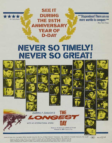The Longest Day (1962) - John Wayne  Color Version DVD