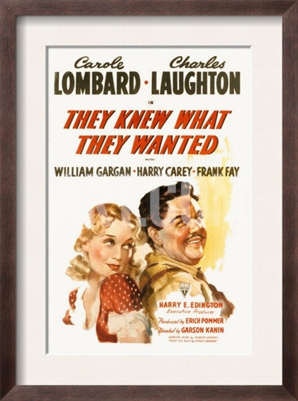 They Knew What They Wanted (1940)  DVD