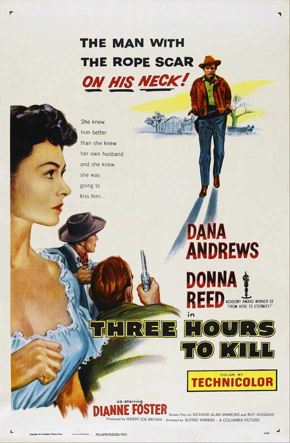 Three Hours To Kill (1954) - Dana Andrews  DVD