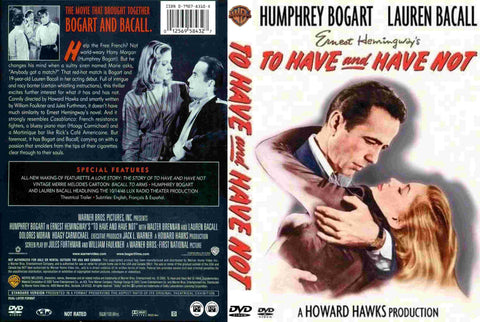 To Have And Have Not (1944) - Color Version DVD