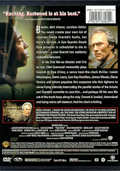 True Crime (1999) - Clint Eastwood  DVD