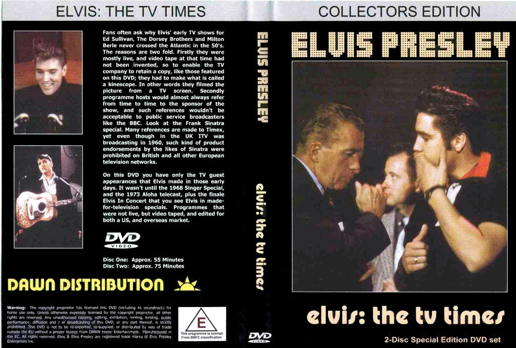 Elvis - The TV Times - 2 DVD Set