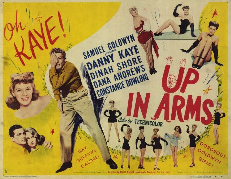 Image result for Up in Arms 1944 poster
