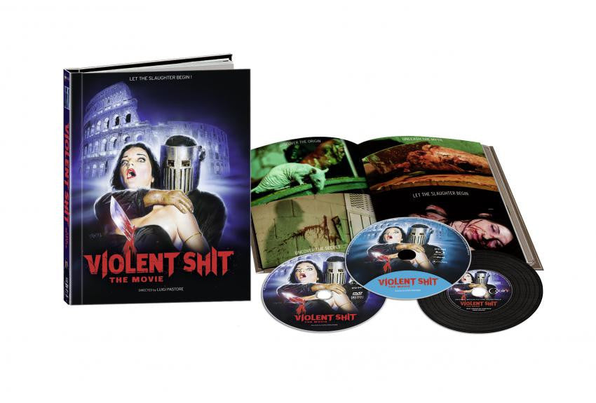 Violent Shit : The Movie (2015) Limited Edition Mediabook UNCUT Blu-ray + DVD