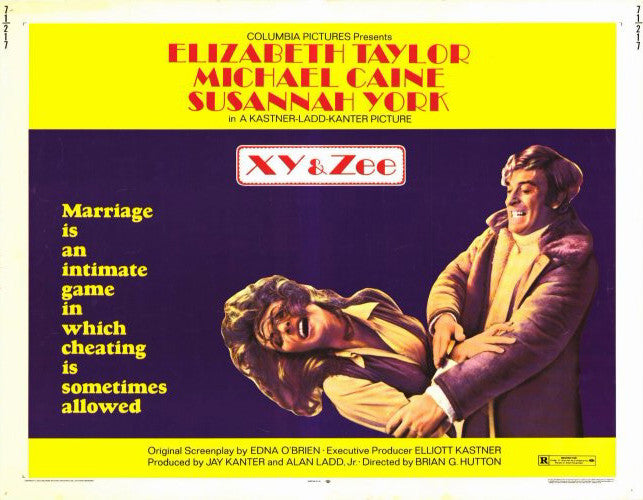 X, Y And Zee (1972) - Elizabeth Taylor  DVD