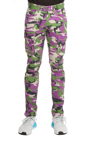 SAIGON Stretch Cargo Moto Jungle Purple Camo Pant