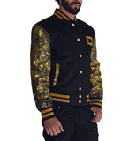 PLATINUM Gold Varsity Letterman Jacket