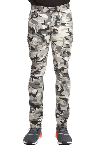 SAIGON Stretch Cargo Moto City Grey Camo Pant