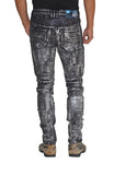 ANARCHY Silver Stretch Moto Pant