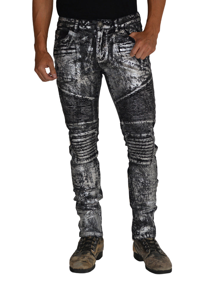 a8bef668 ANARCHY Silver Stretch Moto Pant – DARRING USA