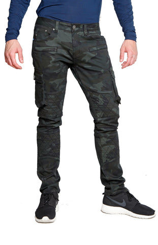 GRAN TOURISMO Stretch Cargo Moto Dark Forest Camo Pant