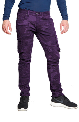 GRAN TOURISMO Stretch Cargo Moto Pure Rock Purple Camo Pant
