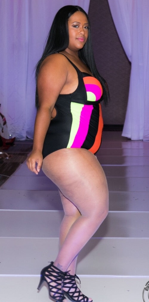 Multi Color Block One Piece