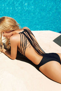 Back Out String One Piece Swimsuit