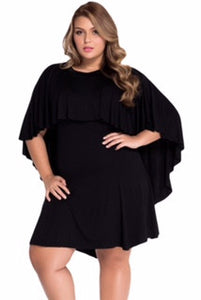 Plus Size Cape Dress