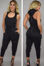 Hooded Black Jumpsuit