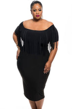 Plus Size Tasseled Dress