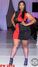 Red and Black Splice Dress