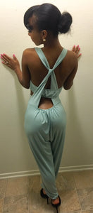 Turquoise Back Out Romper