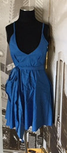 Denim Color Skater Dress