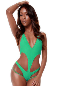Green Cross Back Monokini
