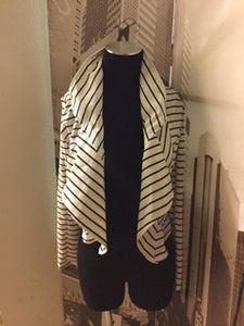 Black and White Stripe Blazer