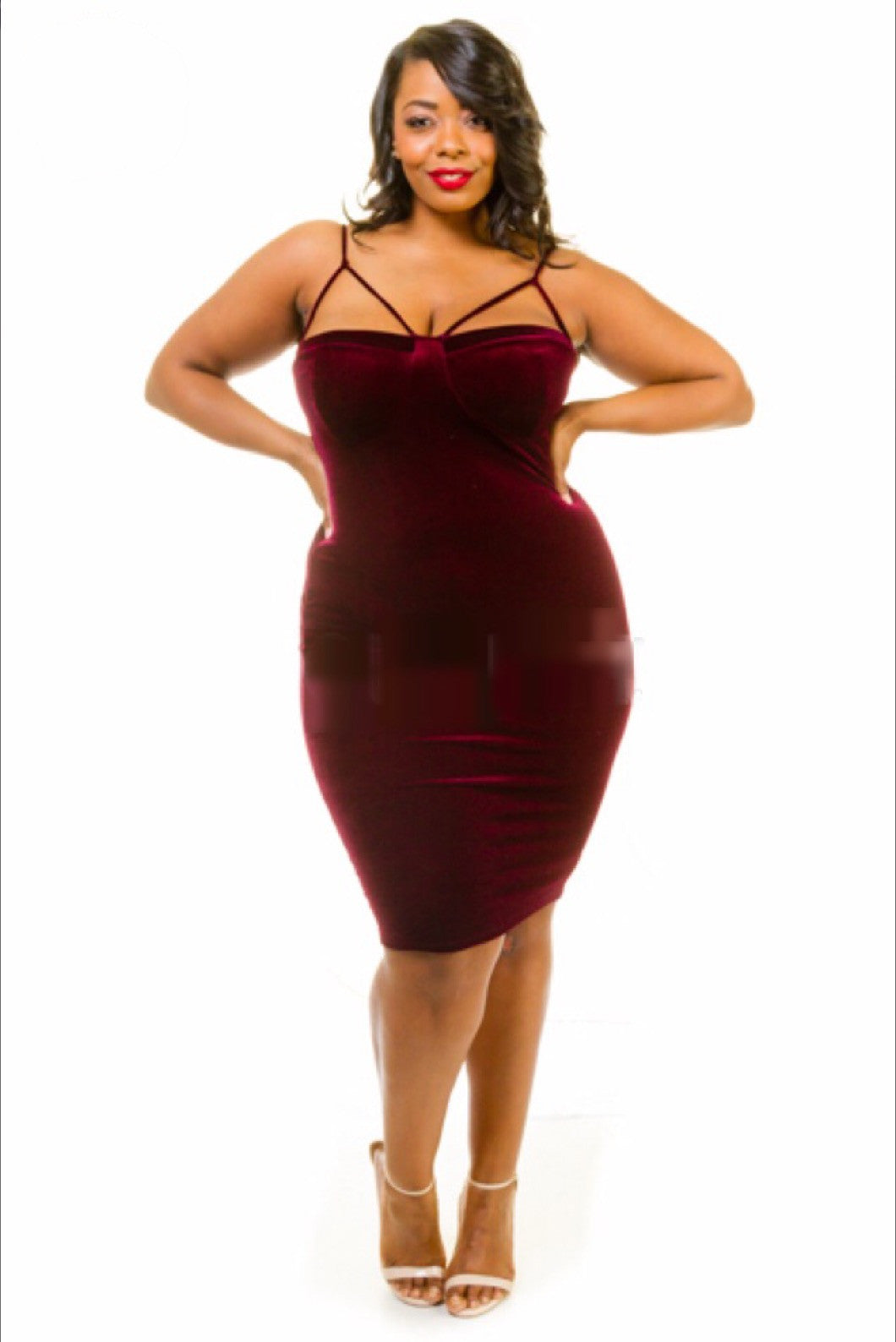 Sassy Velvet Bodycon Dress