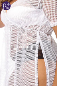 White Mesh Cover up