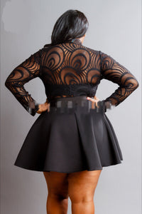 Plus Lace Peplum Mini Dress