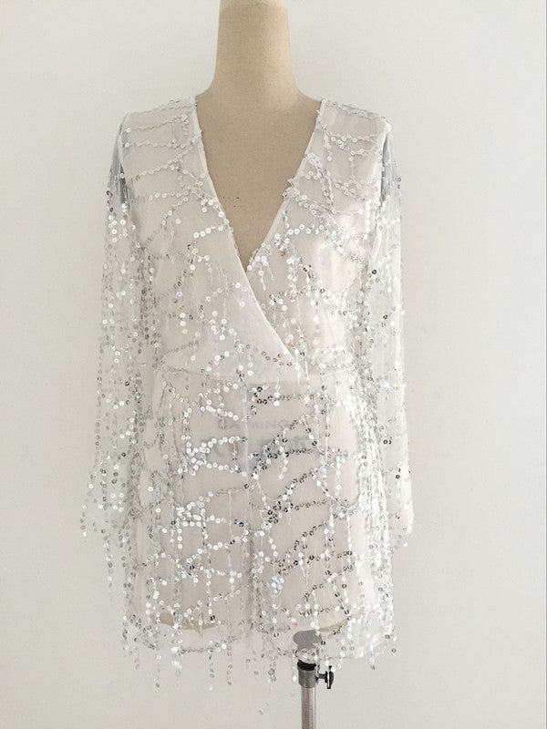 Sequins  Silver Romper