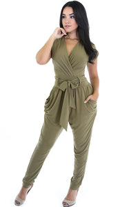 Fabulous Olive Belted Romper