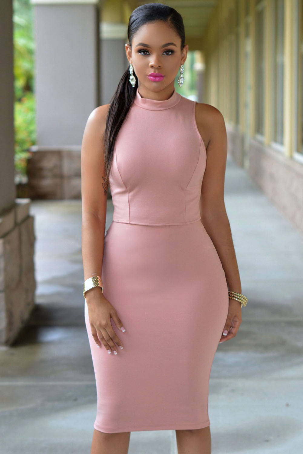 Cut Out Midi Dress