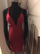 Deep Plunge Cut Out Dress