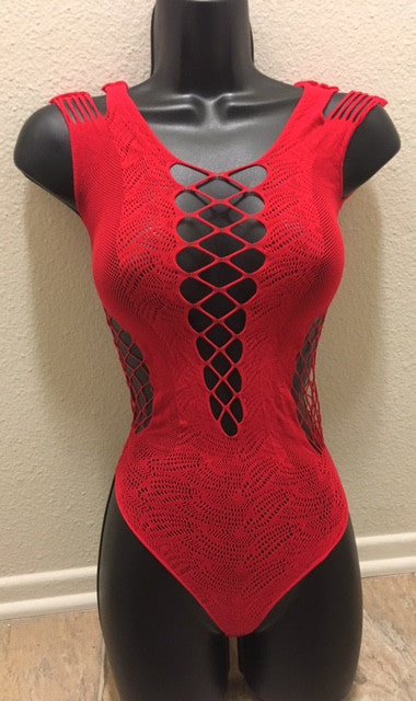 Sexy Red Crochet Teddy