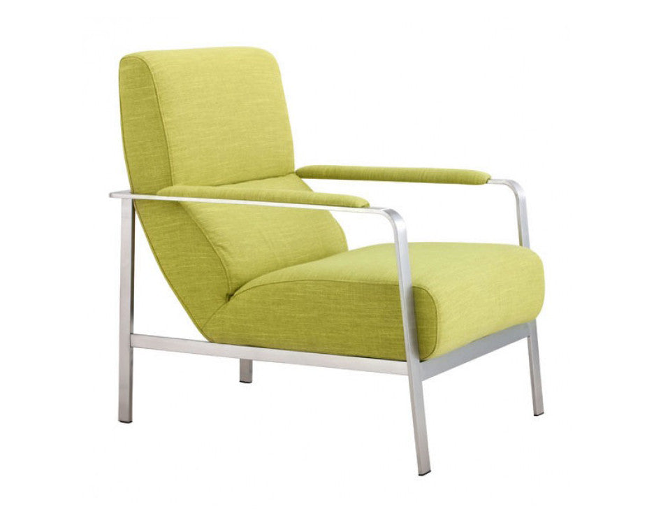 Jonkoping Armchair Rolling Cushions Brushed Steel Frame