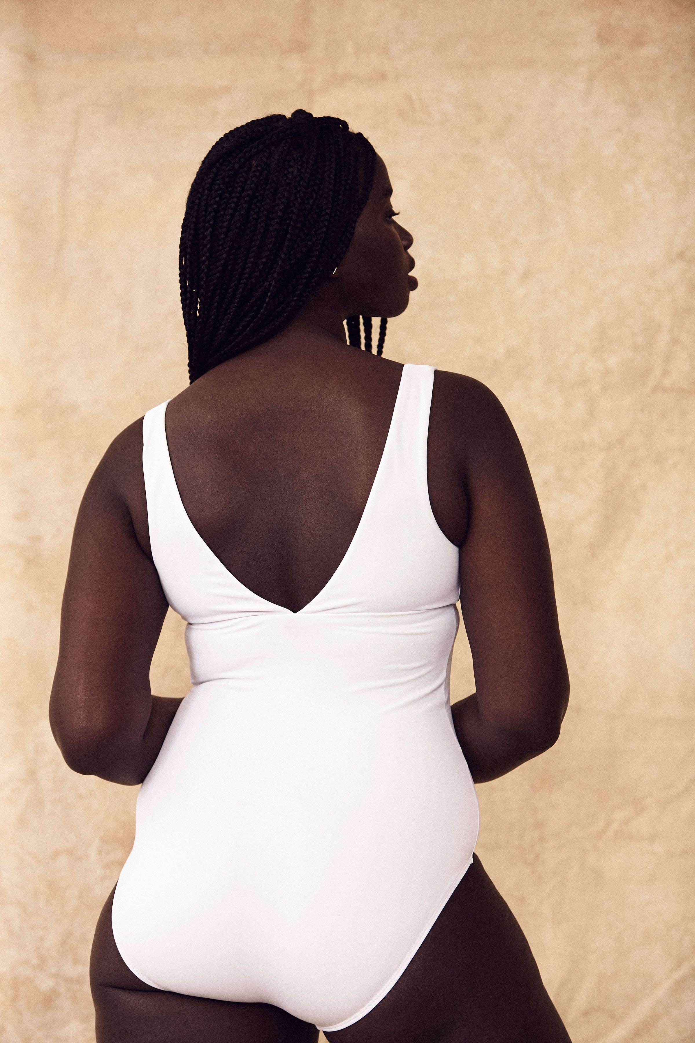 Land of Women - Serena V Neck One Piece (white)