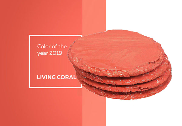Living Coral Coasters Pantone Color of 2019