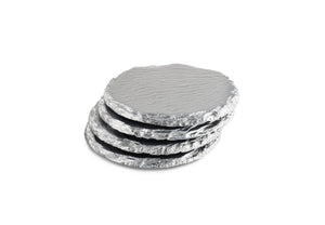 Renee Redesigns Silver Slate Coasters