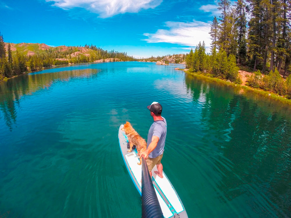 Joe Dondelinger Ambassador LXV outdoor Day Hike and Paddle on Island Lake tahoe sup alpine explorer 2