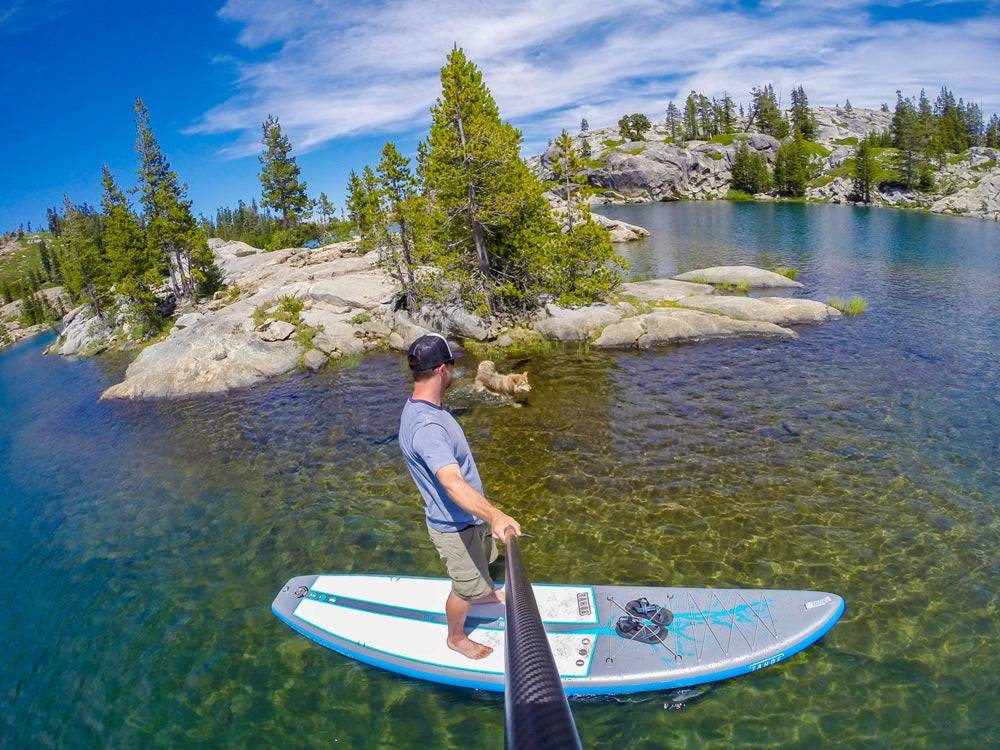 Joe Dondelinger Ambassador LXV outdoor Day Hike and Paddle on Island Lake tahoe sup alpine explorer 3