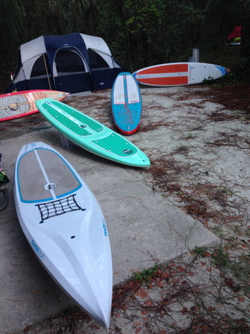 Coast to Coast in Florida with the Capra Water Family - camp site Tahoe SUP Rubicon Bliss Paddlecraft Alpine Explorer Odyssey Tour