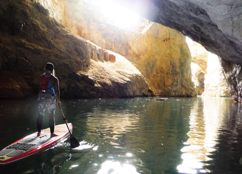 Touring Quebec's Wallingford-Back Mine with Rachelle Price single SUP paddler paddling
