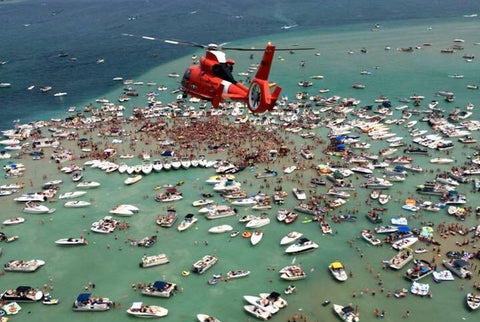 Torch Lake Cleanup with Stand Up for the Great Lakes with Kwin Morris Aerial View with helicopter