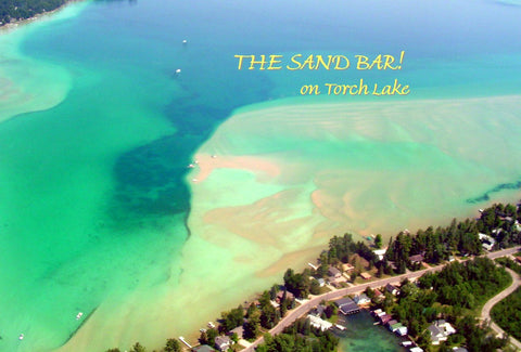Torch Lake Cleanup with Stand Up for the Great Lakes with Kwin Morris The Sandbar Aerial View