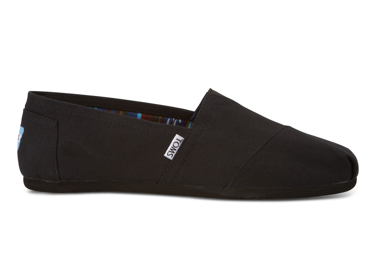 ALPARGATA CLASSIC BLK/BLK CANVAS SLIP ON