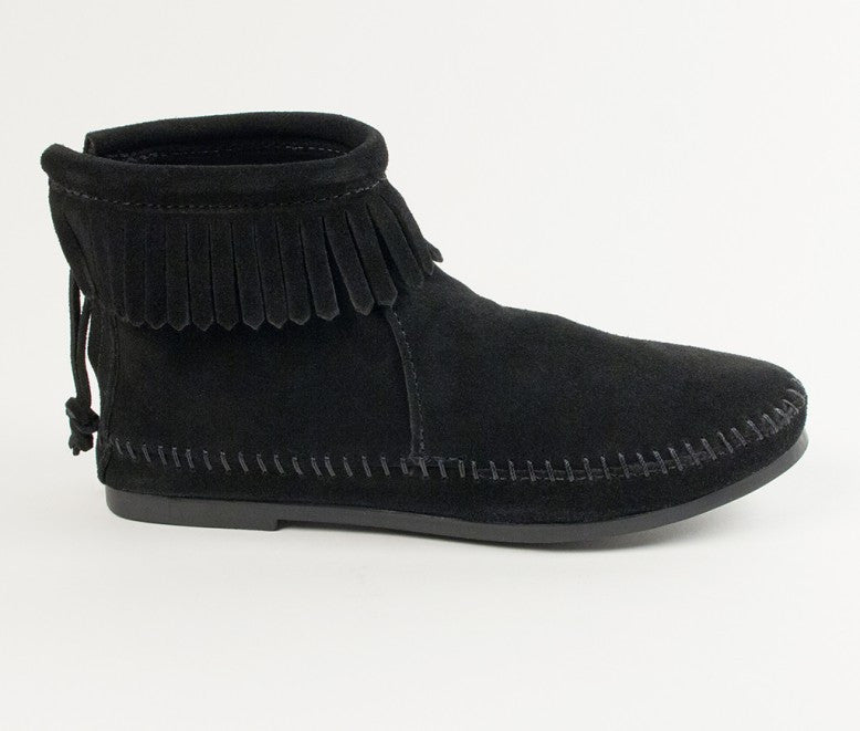 BACK ZIP HARD-SOLE BOOT