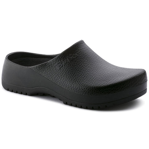 SUPER BIRI BLACK LTHR SLIP ON CLOG