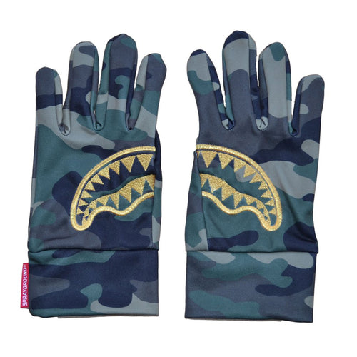 SPARYGROUND GOLD STENCIL CAMO GLOVES