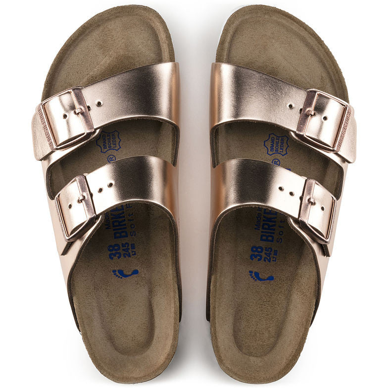 Birkenstock Arizona Soft Footbed Metallic Leather